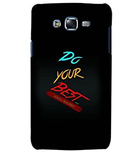 PRINTSWAG Samsung Galaxy J7 DO YOUR BEST Back Cover + Free One Led Crystal Rotating Disco Bulb