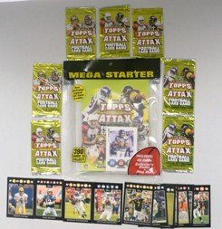 2010 Topps Attax NFL Football Collectors Special Deal! 2010 Topps Attax NFL Mega Starter with Collectors Binder PLUS SEVEN (7) Factory Sealed 2010 Topps Attax NFL Booster Foil Packs. Includes Extra Bonus of 12 card Topps Black All Star Set featuring Peyto