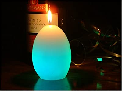 Glo-wax Egg Shaped Colour Changing Dreaming Led Magic Candle by Glo-Wax