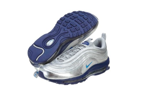 Nike Air Max 97 Metallic Silver Italy Blue Deep Royal 10 5 D