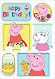 Acquista Peppa Pig Birthday Bubbly Birthday Fun Card con il badge (import inglese)