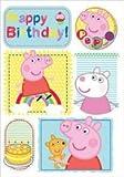 Acquista Peppa Pig Birthday Bubbly Birthday Fun Card con il badge (import inglese)