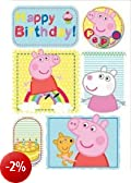 Peppa Pig Birthday Bubbly Birthday Fun Card con il badge (import inglese)
