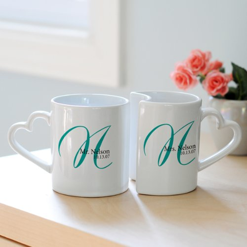 Personalized Initial Mug (Set of 2)