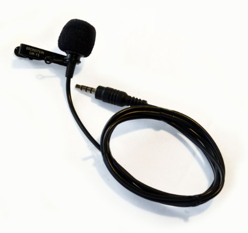 Bronstein Lm15 Lavalier Lapel Microphone For Iphone And Smartphones - Iphone Ipad Lavalier Mic