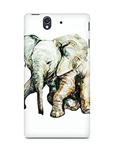Amez designer printed 3d premium high quality back case cover for Sony Xperia Z (Little elephant)