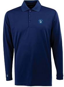 San Diego Padres Long Sleeve Polo Shirt (Team Color) by Antigua