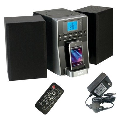 Rca Cd Micro System With Dock For Iphone/Ipod - Black (Rs2127Ih)