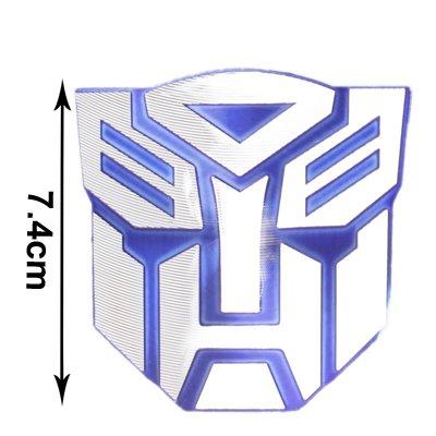 Décoratif Emblème Badge Chromé Transformateurs De Voiture Autobot (Bleu)