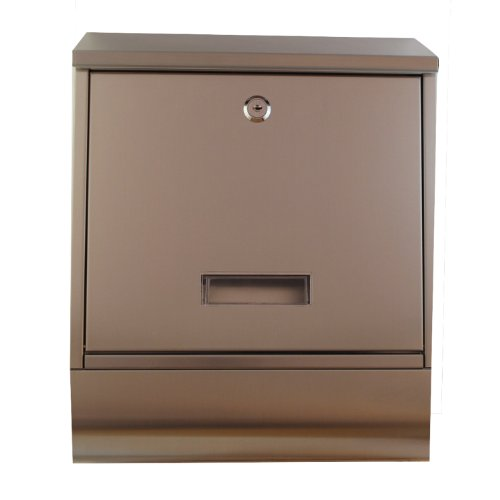 Tmedia Modern Lockable Stainless Steel Letterbox/Mailbox/Postbox & Newspaper Holder Wall Mounted Postbox (Type-E)with Original key tag