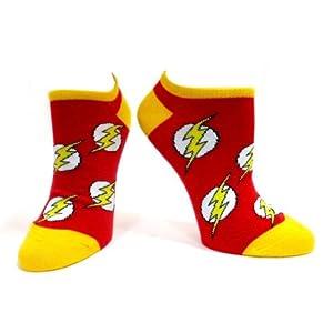 Dc Size 39/42 Flash Logo Ankle Socks (Red)