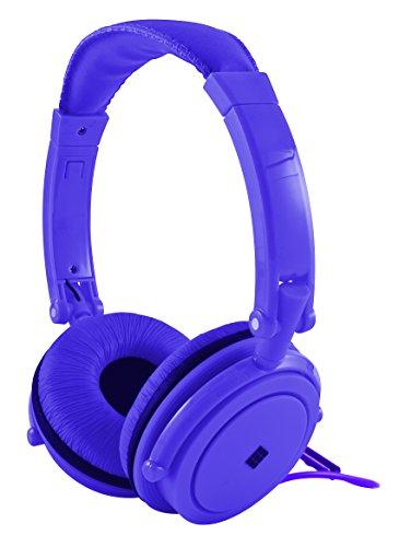 Polaroid Php8360Pu Powerful Bass Jumbo Padding Neon Headphones With Noise Isolation, Purple