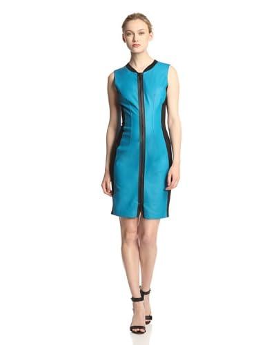Elie Tahari Women's Mila Leather Colorblock Dress