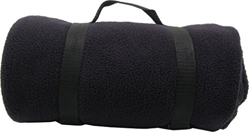 Ashopz Lightweight Fleece Throw 50 X 60 Inches Ultra Blankets, Black