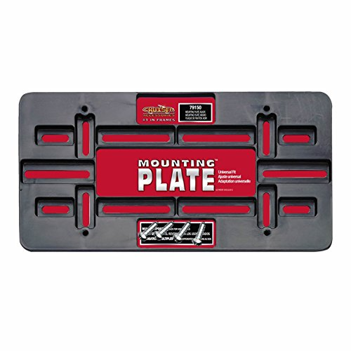 Cruiser Accessories 79150 Mounting Plate, Black (Universal License Plate Bracket compare prices)