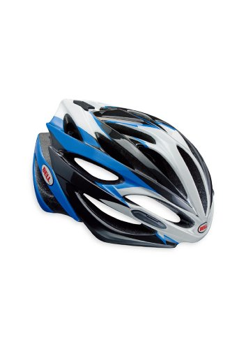 Best Bell Array Bicycle Road Helmet Cyan Blue/White Large (59 - 63cm / 23.25 - 24.75