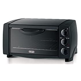 DeLonghi EO1200B Large Capacity Toaster Oven, Black
