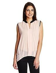 KIMYRA Women's Body Blouse Shirt (34889_Candy Floss_Small)