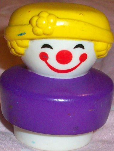 Buy Low Price Mattel Fisher Price Little People Vintage Circus Clown Replacement Figure Doll Toy (B0025JTWUI)