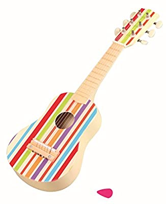 Lelin Wooden Stripe Striped Decor Guitar Childrens Kids Musical Instrument +3yrs