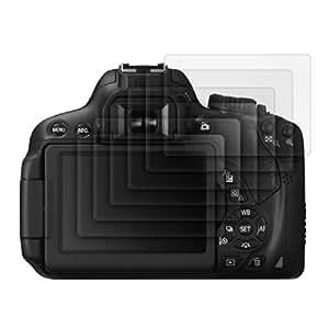 6x kwmobile film de protection pour écran MAT et ANTI-REFLETS avec effet anti-traces de doigts pour Canon EOS 650D. QUALITÉ SUPÉRIEURE