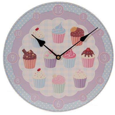 Uhr Cupcakes Bilderuhr Kinder Wanduhr Holz online bestellen