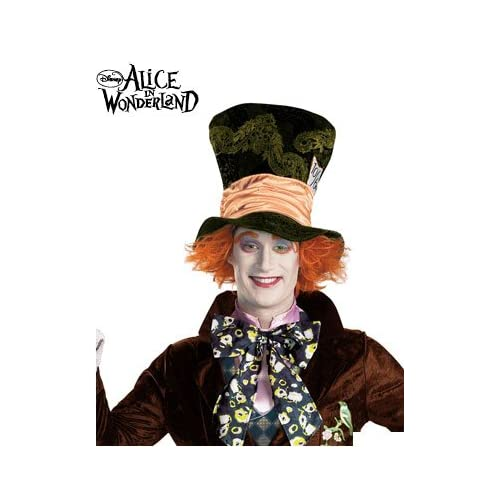 Johnny Depp Mad Hatter Hat. MAD HATTER DISNEY ADULT HAT. FULLY LICENSED. Part: 23588