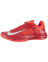 Nike Men's NIKE HYPERDUNK LOW BASKETBALL SHOES UNIVERSITY RED/STRT GRY/BRGHT CRMS