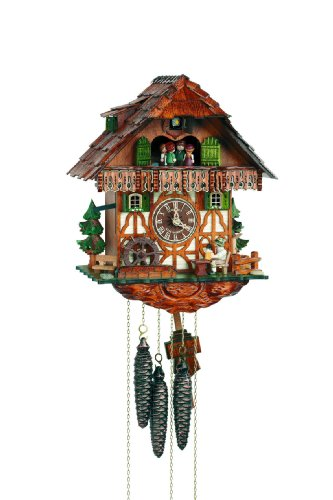 Schneider Black Forest 13 Inch Musical Beer Drinker Cuckoo Clock
