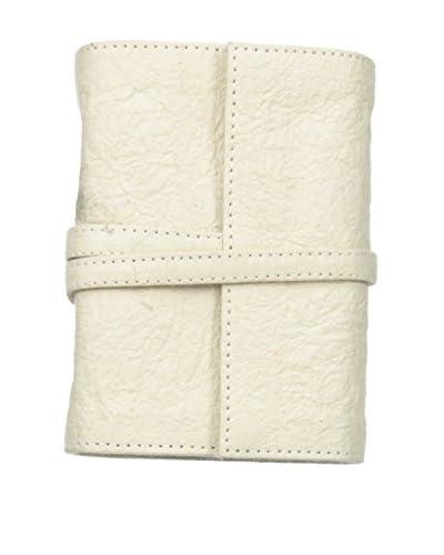 Marina Vaptzarov Small Vegetal Leather Cover Travel Diary, White