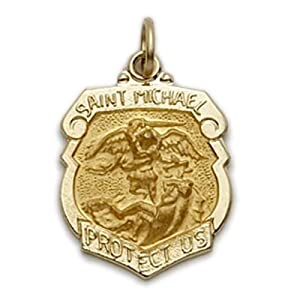 Shield St. Michael the Archangel Protection Medal Pendant, Patron
