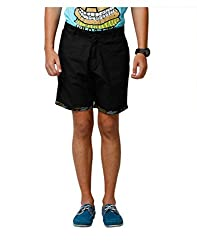 Yepme Denson Solid Shorts - Black -- YPMSORT0133_34