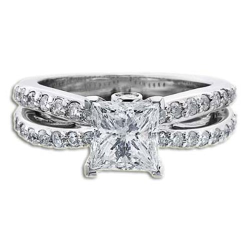 1.40 CT CERTIFIED DIAMOND ENGAGEMENT RING D VS1 