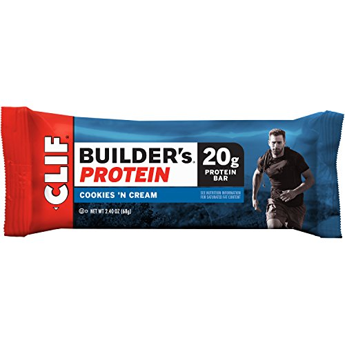 Clif Bar Builder's Bar, Cookies and Cream, 2.4-Ounce Bars, 12 Count (Cliff Bars Builder Bars compare prices)