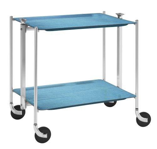 Platex carrello portavivande blu azurblau for Carrello portavivande amazon