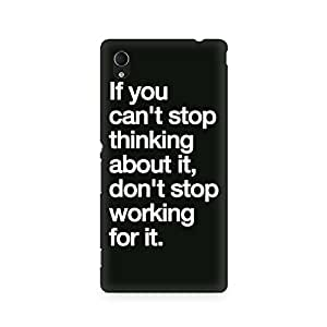 Ebby Don't Stop Working Premium Printed Case For Sony Xperia M4