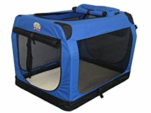 Go Pet Club Soft Crate for Pets, 20-Inch, Blue