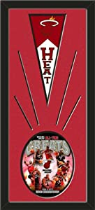Miami Heat Wool Felt Mini Pennant & Miami Heat All Time Greats Composite Photo -... by Art and More, Davenport, IA
