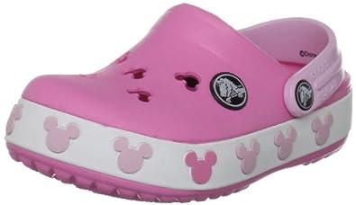 Crocs Crocband Mickey II Clog (Toddler/Little Kid),Pink Lemonade/Bubblegum,4-5 M US Toddler