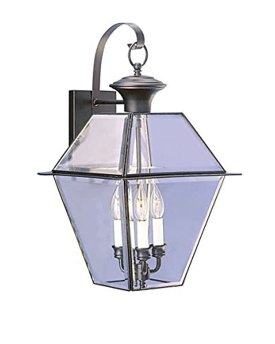 Crestwood Walden 3-Light Wall Lantern, Black