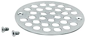 Westbrass D3192-26 Plastic Oddities 4-Inch Shower Strainer, Polished Chrome