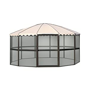 Casita 12-Panel Round Screenhouse 23165, Brown with Almond Roof by Casita