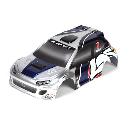 1/24 4WD Rally Painted Body, Silver/Blue - 1