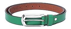 WildHorn Women's Leather Belt (WHRH176--34, Green, 34)