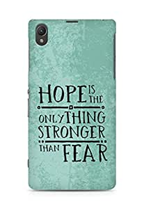 AMEZ hope is the only thing stronger than fear Back Cover For Sony Xperia Z1 C6902