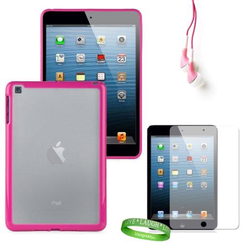 Pink Tear Proof Tpu Skins For All Models Of The Apple Ipad Mini 7.9 Inch Tablet (Md528Ll/A, Wifi, Wifi + Cellular, 16Gb, 32Gb, 64 Gb, Black, White, A5, At&T, Sprint, Verizon Wireless) + Ipad Mini Compatible Earbud Earphones + Ipad Mini Anti Glare Screen P