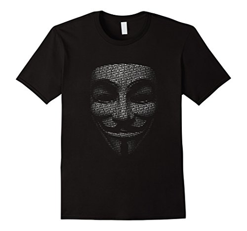 Anonymous Guy Fawkes text mask T-Shirt