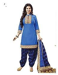 Aarvi Women's Cotton Unstiched Dress Material Multicolor -CV00140