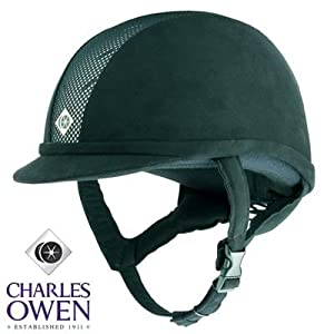 Charles Owen Ayr8 Riding Helmet All Black Size 6 7/8