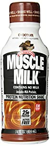 CytoSport Muscle Milk Ready-to-Drink Shake, Chocolate, 14 Ounce, Pack of 12